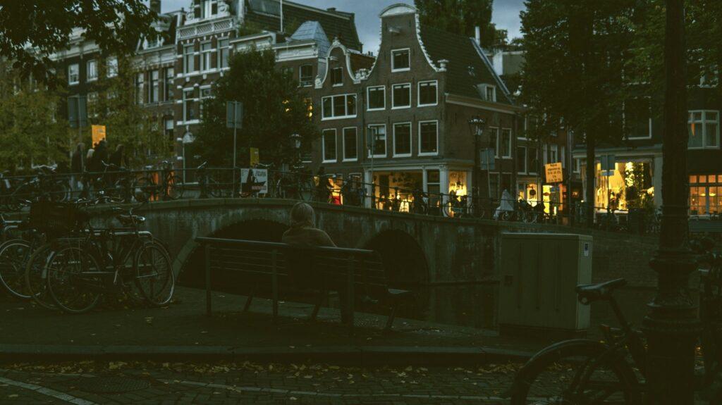 Amsterdam bench dreaming