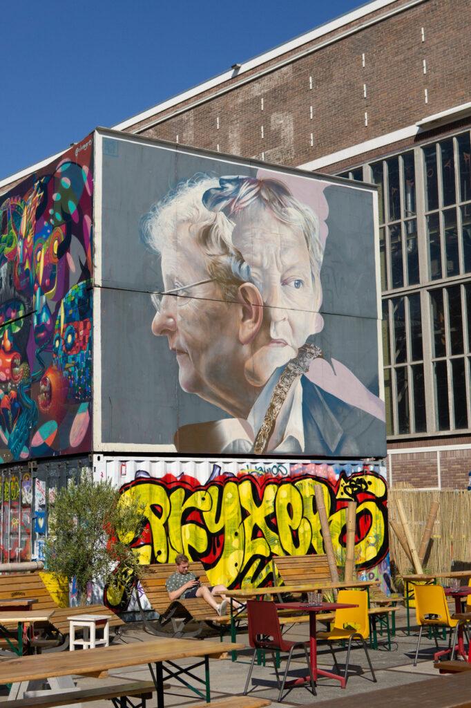 Eberhard Van Der Laan, the most beloved mayor of Amsterdam, graffiti