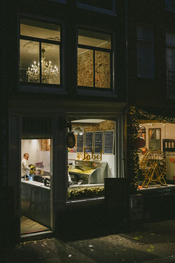 Elegant french fries, Amsterdam center