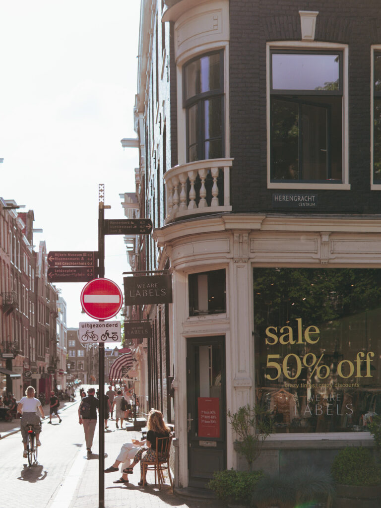 Herengracht Amsterdam summertime, We Are Labels store