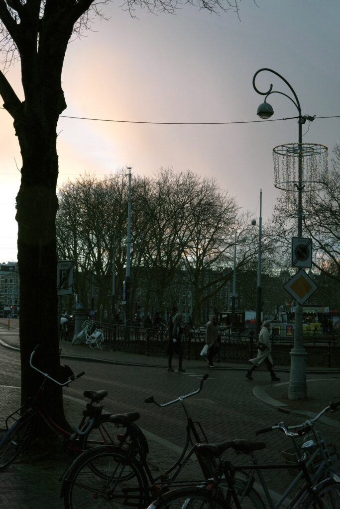 moody walks Amsterdam center