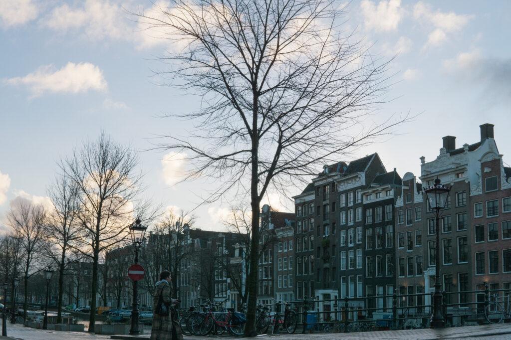 frozen winter Amsterdam canal walks