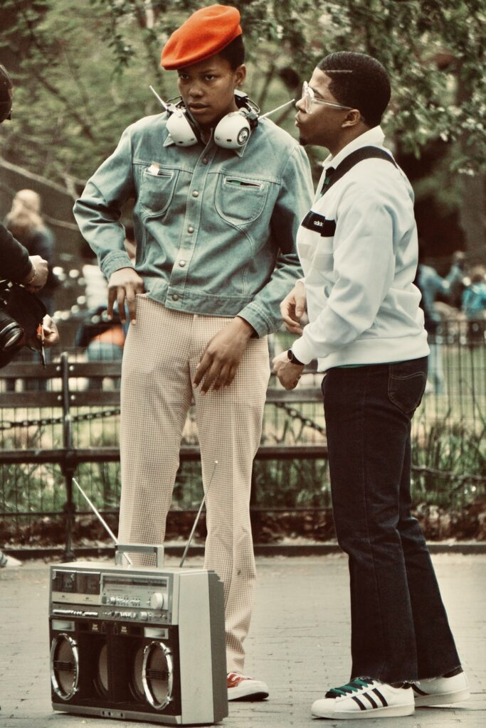 70's dressed young guys at the Washington square park