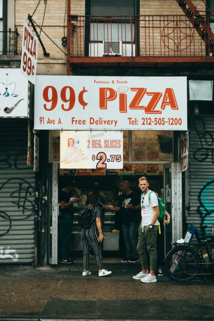 99 cents pizza in the East Village