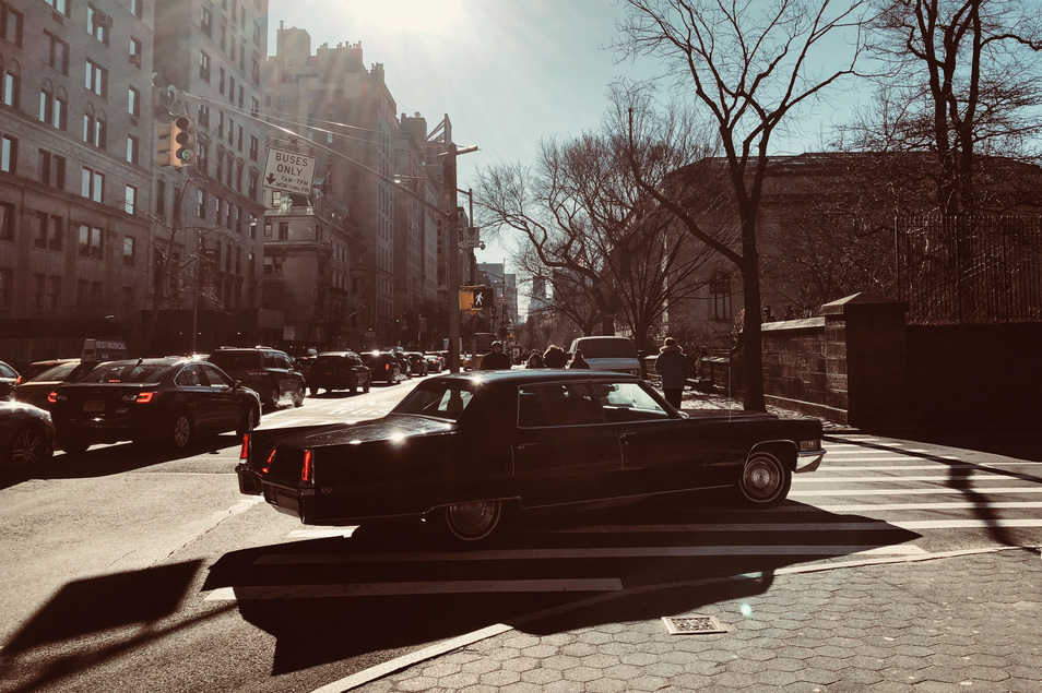 Cadillac on the upper East side