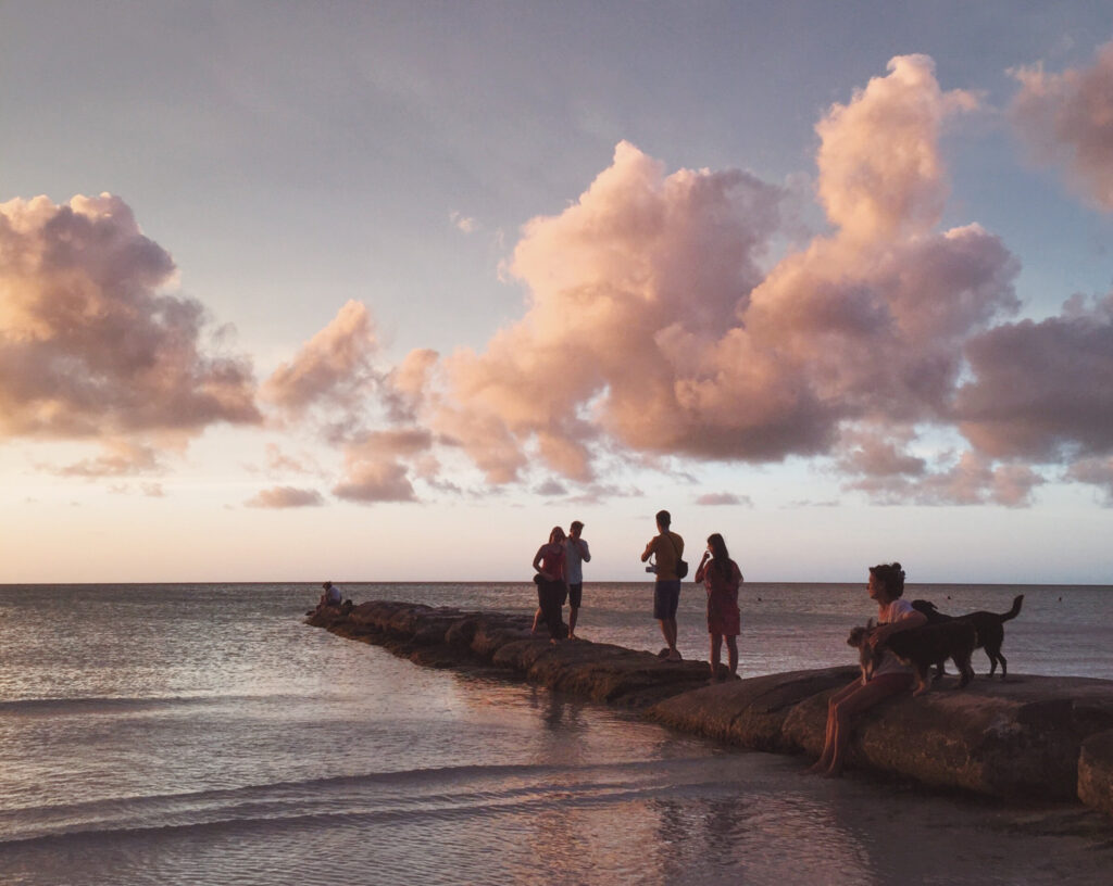Shared sunset in Holbox