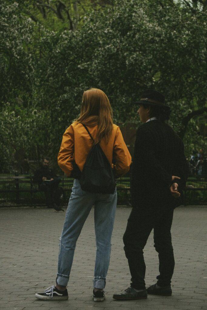 cool couple at the Washington square park