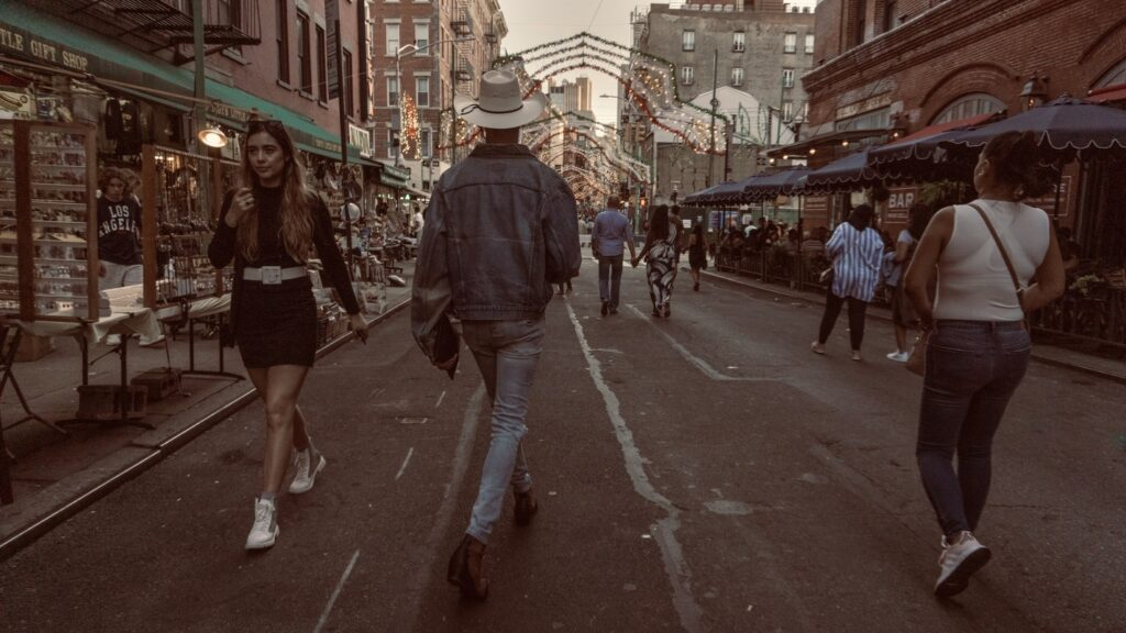cowboy in little Italy NY