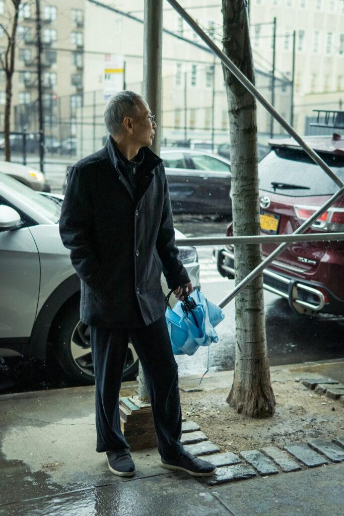 elegant asian elder man in New York