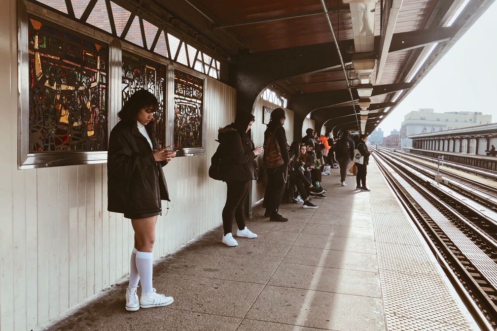 waiting on a train