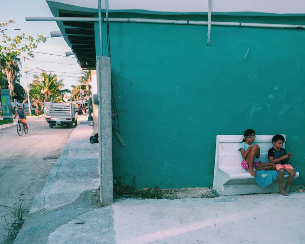 Here for the company, Holbox