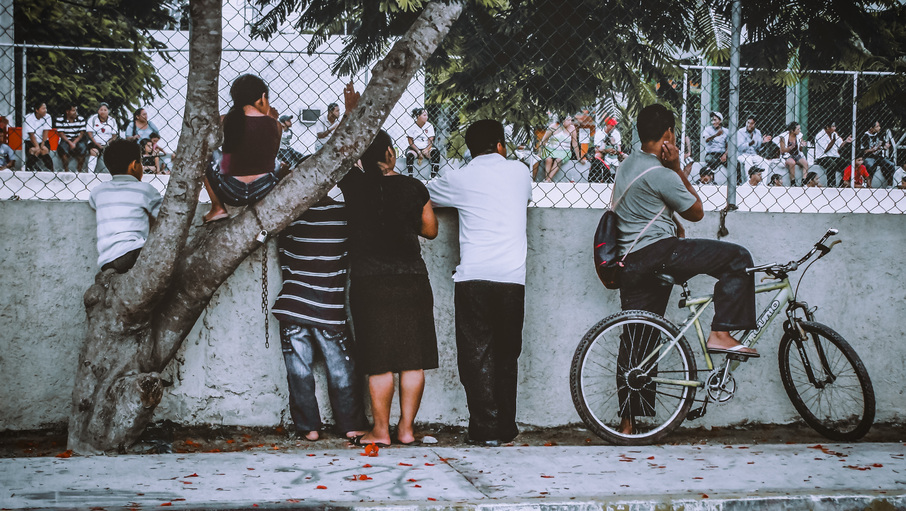soccer match observers in Tulum