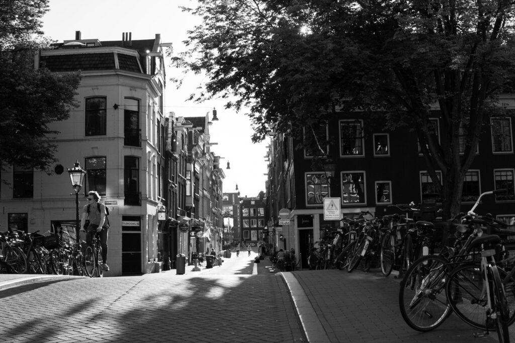 Amsterdam Jordaan on a bike