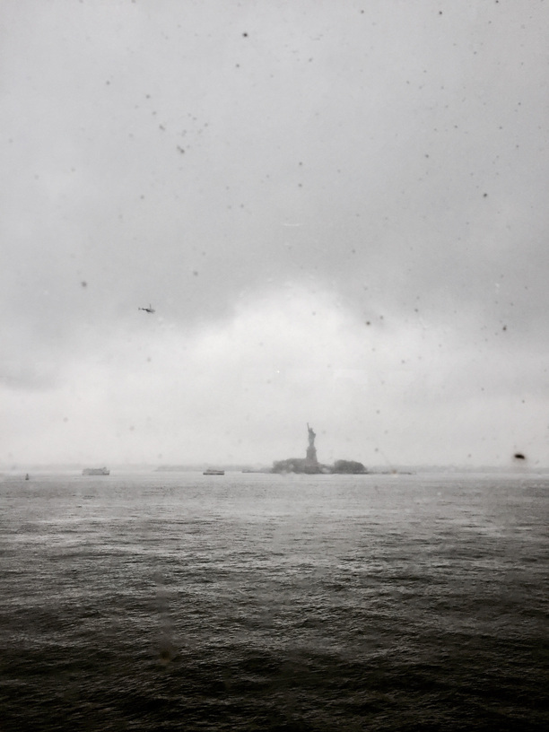 statue of Liberty seen from the Staten Island ferry